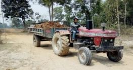 ধামইরহাটের গ্রামীণ সড়ক নষ্ট করছে অবৈধ ট্রাক্টর