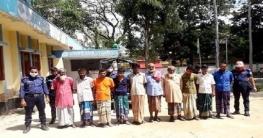 আত্রাইয়ে পৃথক অভিযানে মাদক মামলার আসামীসহ ৯জন আটক