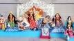 বদলগাছীতে রং তুলির ছোঁয়ায় সাজছে দেবী দুর্গা