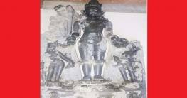 নওগাঁয় ৬৭ কেজি ওজনের কষ্টি পাথরের বিষ্ণু মূর্তি উদ্ধার