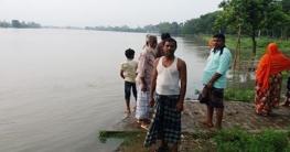 আত্রাই নদীর পানি বিপদসীমাঅতিক্রম করেছে