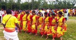 বদলগাছীতে আদিবাসীদের কারাম উৎসব