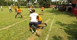 মান্দায় মৌসুমী'র আয়োজনে হ্যান্ডবল প্রতিযোগিতা