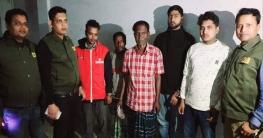 নওগাঁয় ডিবির অভিযানেচোরাকারবারী চক্রের ৫ সদস্য গ্রেফতার