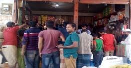 ধামইরহাটে গুজবে লবণের দোকানে ক্রেতাদের উপচেপড়া ভীড়