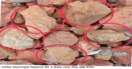 মহাদেবপুরে নিম্নমানের ইট দিয়ে রাস্তা নির্মাণ