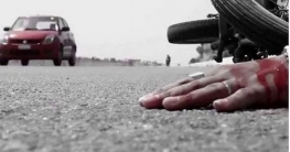 নিয়ামতপুরে সড়ক দুর্ঘটনায় মটরসাইকেল আরোহী নিহত